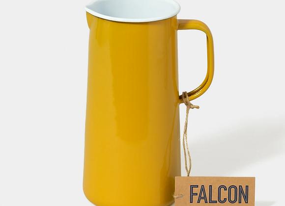 Falcon enamel 3 pint jug in Mustard Yellow