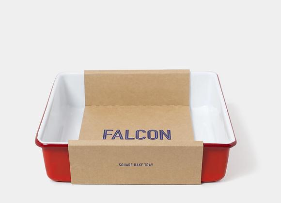 Falcon enamel square bake tray - Pillarbox Red