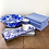 Thumbnail: 32cm Large serving bowl in blue and white marble effect enamel
