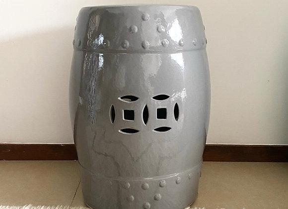 Grey ceramic stool
