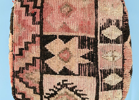 Moroccan pouf handmade from antique Berber rugs