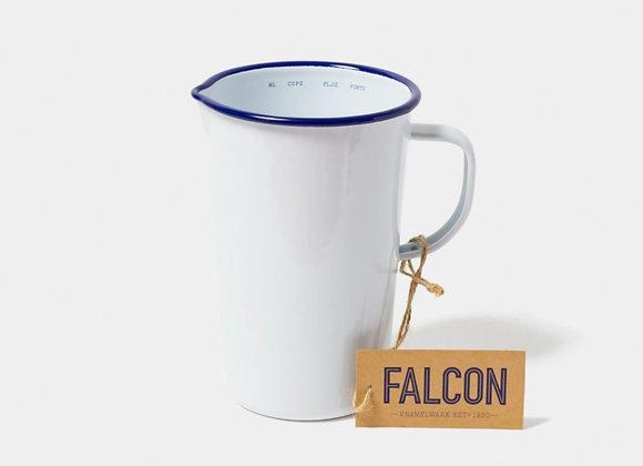 Falcon enamel 2 pint jug in White
