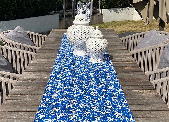 Handmade table runner- blue floral