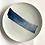 Thumbnail: Spin brush stroke ceramic dinner plate 27cm
