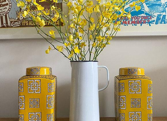 Yellow rectangular Ginger Jar Small