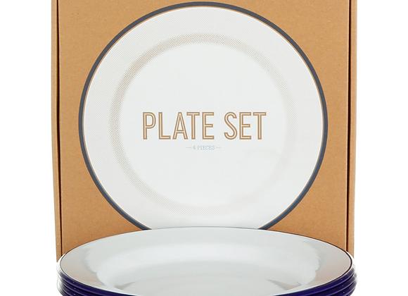 4 pack of Falcon enamel 24cm plates