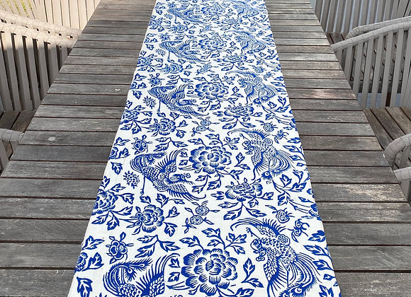 Handmade table runner, Pheonix and Peony
