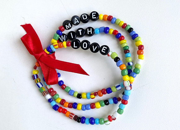 Slogan beaded bracelet