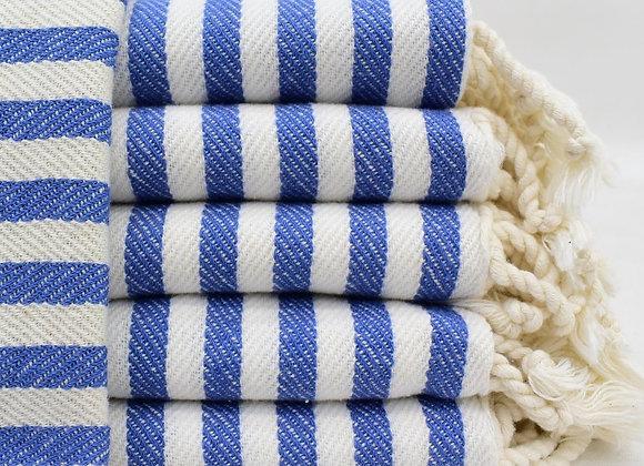 Striped hand towel -Blue
