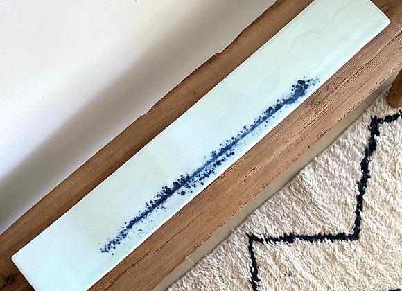Spin Long Slat Plate - China blue