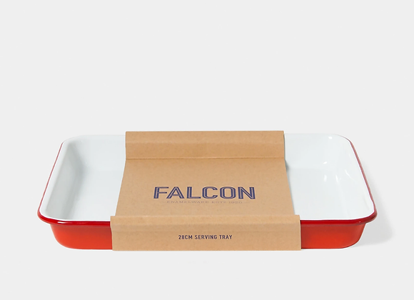 Falcon enamel serving tray - Pillarbox red