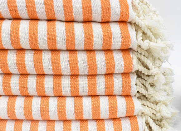 Striped beach towel - Orange