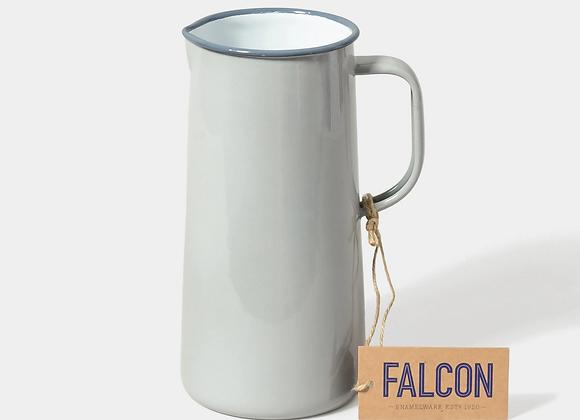 Falcon enamel 3 pint jug in Oyster Grey