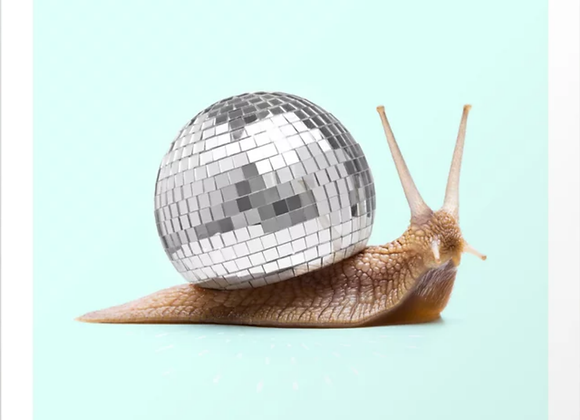 Disco Snail Art Print
