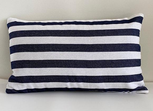 Black and white stripe cushion cover 30x50cm