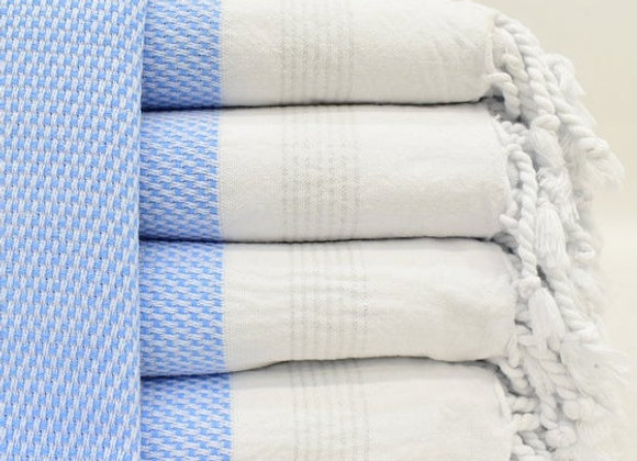 Baby Blue Turkish beach towel