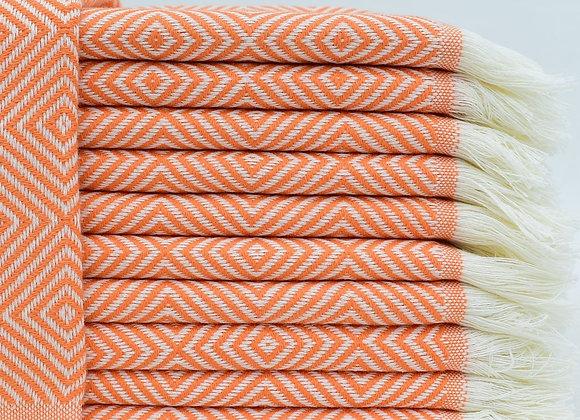 Diamond hand towel - Orange