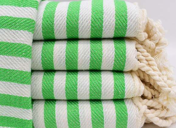 Striped kingsize towel - Green