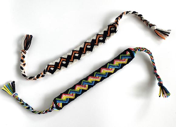 2cm wide woven friendship bracelet