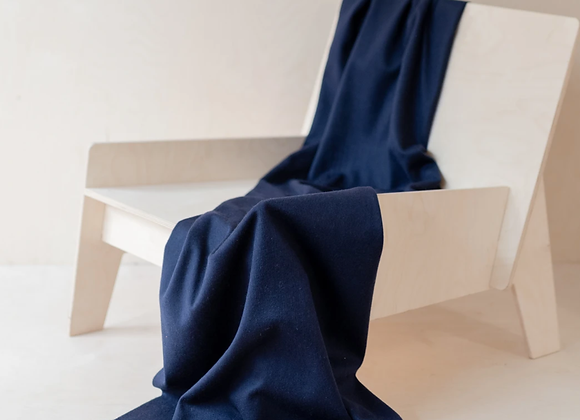 Navy Lambswool Knee blanket