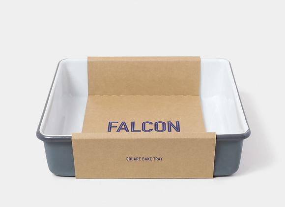 Falcon enamel square bake tray - Pigeon Grey