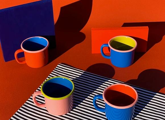 Bornn colorama enamel mug