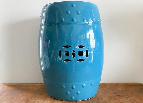 Teal ceramic stool