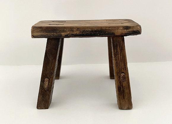 Mini old wooden stool