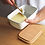 Thumbnail: White enamel butter dish with wooden lid