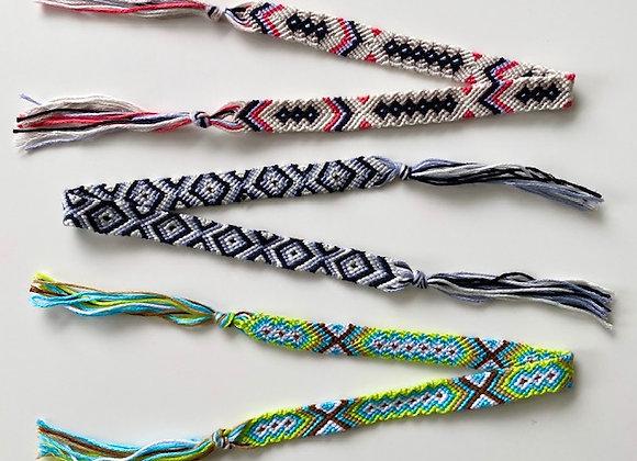 Double wrap woven friendship bracelet