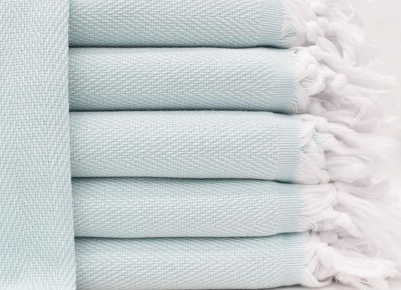 Herringbone hand towel - mint
