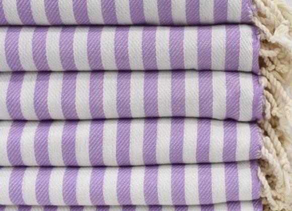 Striped beach towel - lilac
