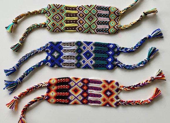 Super wide woven friendship bracelet