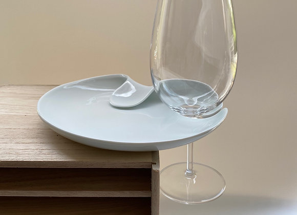 Spin ceramic wine and dine plates