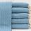 Thumbnail: Teal herringbone Turkish beach towel/throw