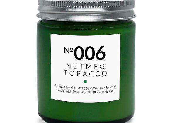 006 Nutmeg Tobacco 6PM Candle