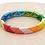 Thumbnail: Rainbow enamel triangle beaded bracelet