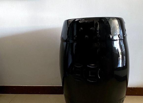 Black ceramic stool