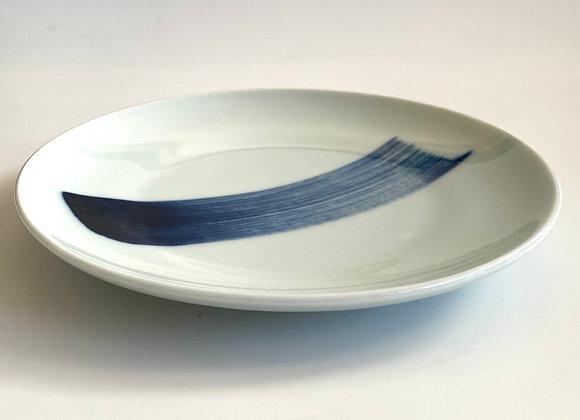 Spin brush stroke ceramic small plate 21cm