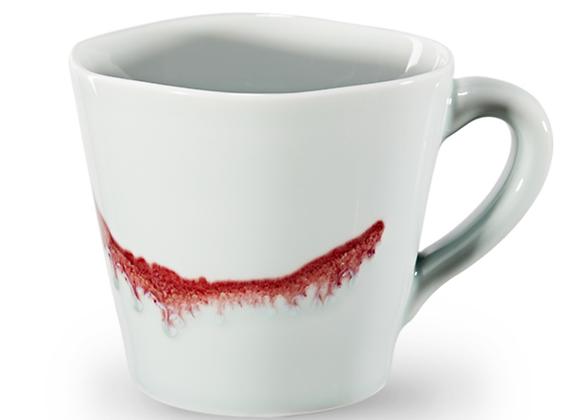 Spin ceramic mug - Under-glaze red
