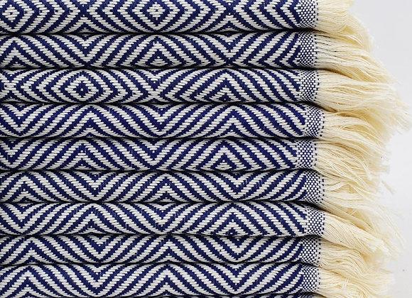 Diamond hand towel - Navy