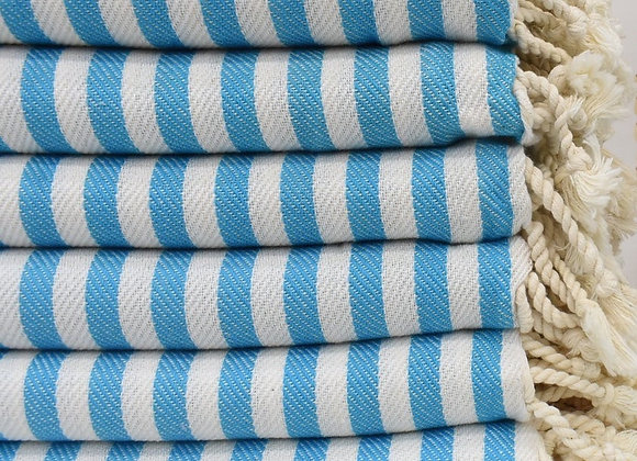 Striped beach towel - Sky Blue