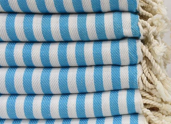 Striped beach towel - Sky Blue
