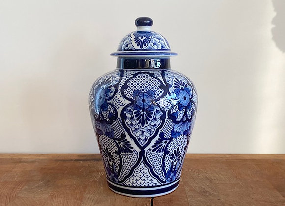 "Small ""blossom"" Blue Ginger jar"