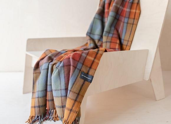 Recycled Wool Buchanan Antique Tartan knee blanket