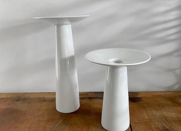 Spin White T Vases