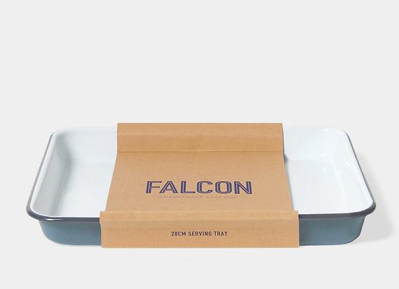 Falcon enamel serving tray - Pigeon Grey