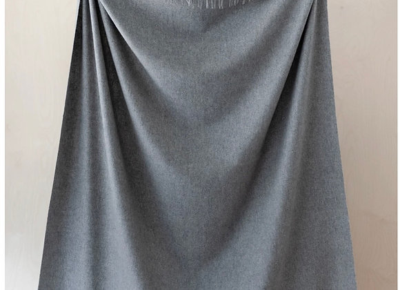 Lambswool Full blanket in Grey Melange