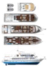 MV Pawara, MV Pawara схема корабля, дайвинг сафари в Таиланде, дайвинг сафари MV Pawara
