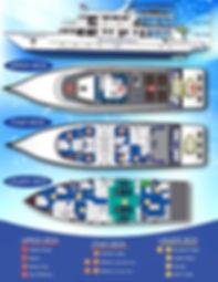 Deep Andaman Queen - схема корабля, дайв-сафари в Таиланде с ACDC Diving